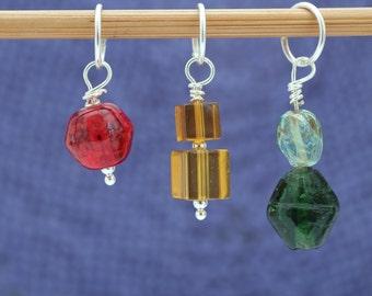 Traffic Lights Sock Set, Knitting or Crochet Stitch Marker Set, Knitting Tools, Gift for Knitters, Crochet Tools, Crochet Marker Set