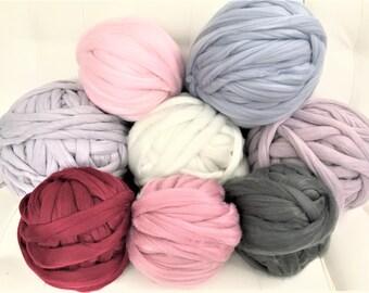 Grosse laine tricot, fil Vegan trapu, Super gros fil, fil à tricoter de bras 03b241d90a6