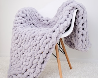 2ca32fefa1 Chunky knit blanket