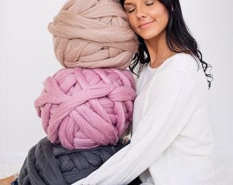 Merino wool, Merino wool yarn, Chunky yarn, Merino Wool Yarn, Super chunky yarn, Arm knit yarn, Merino wool roving, Gift for her, Birthday g