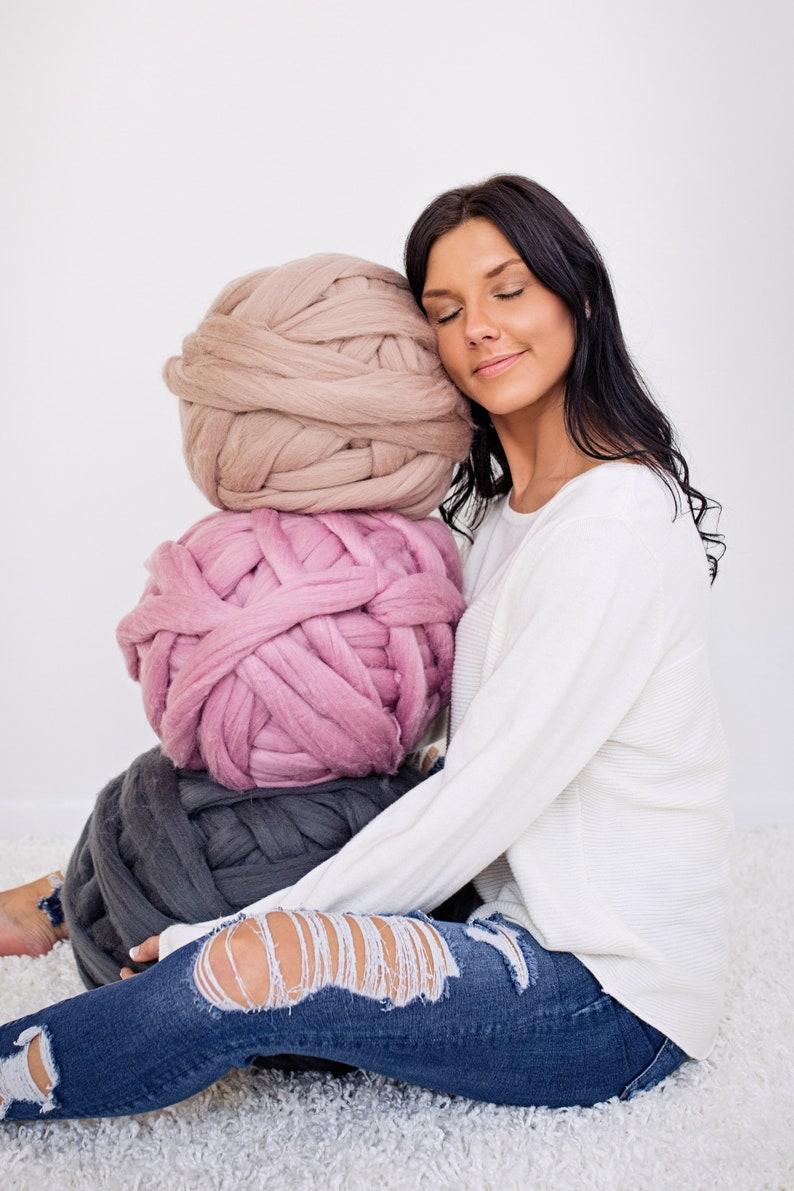 Merino wool Merino wool yarn Chunky yarn Merino Wool Yarn image 0