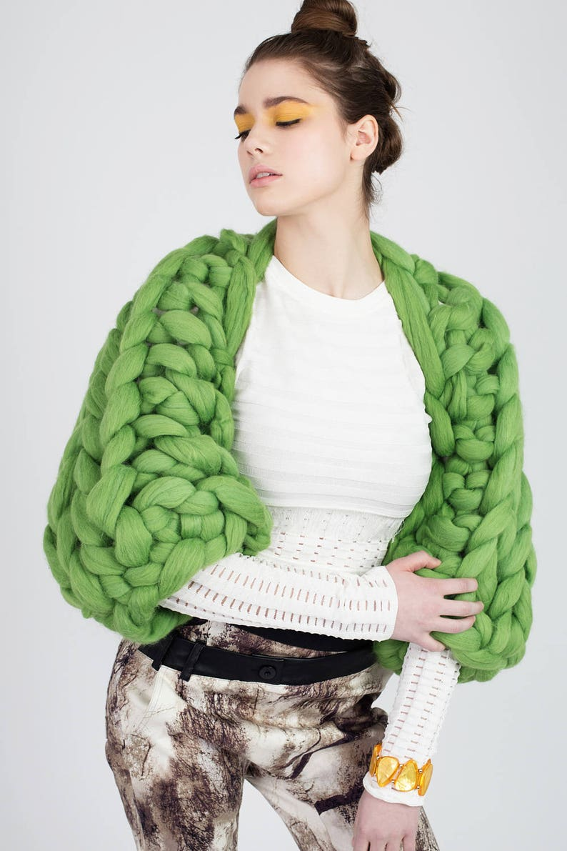 2dcf323abc8597 Chunky Knit Shrug Arm knit Shrug Merino wool shrug Giant