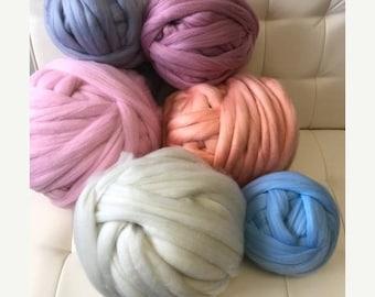 Vegan Yarn, Chunky Vegan Yarn, Super Chunky Yarn,Arm Knitting Yarn