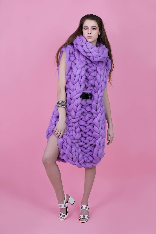 c8c2c9c3cb8 Chunky Knit Dress Arm knit Dress Merino wool dress Giant