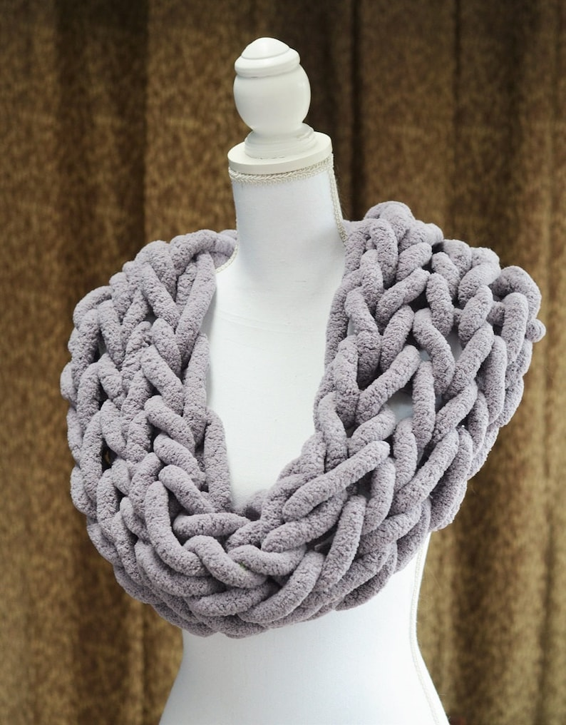 Chunky Knit Scarf Chunky Chenille Scarf Infinity Scarf Etsy