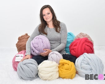 Chunky Knit Yarn, FREE SHIPPING, Merino wool, Hand knitting, Super Chunky Yarn, Giant Knit Yarn,Super Bulky Yarn, Arm Knit