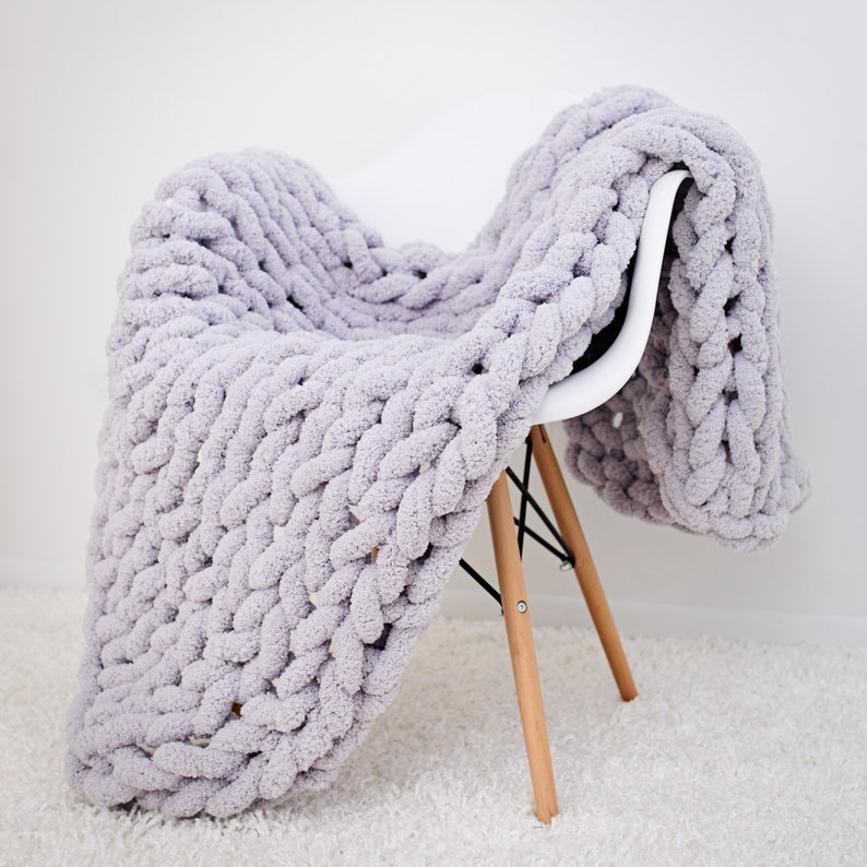 Chunky knit blanket Jumbo chenille Blanket Chunky Chenille image 0