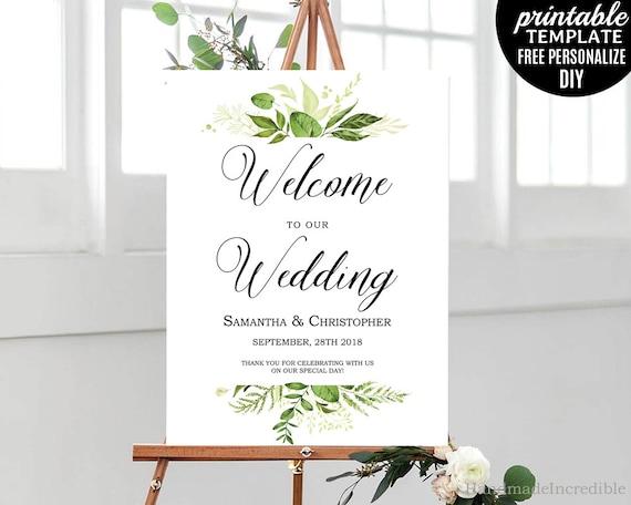 greenery wedding poster wedding poster template printable