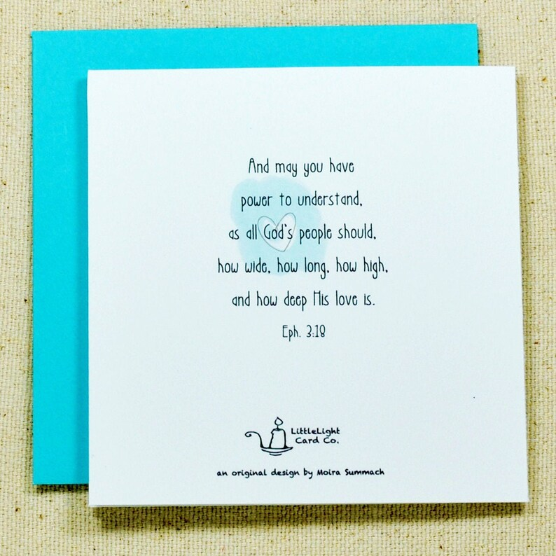 Bible Verse Note Card featuring Ephesians 3:18 Scripture Note Card
