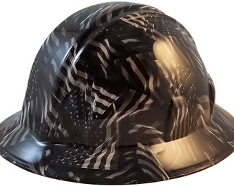 4aad839e65a Covert USA Flag Hydro Dipped Hard Hats Full Brim Style