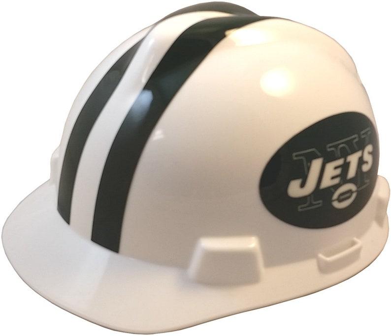 46060d17 NFL New York Jets Hardhat w/ Ratchet Suspension