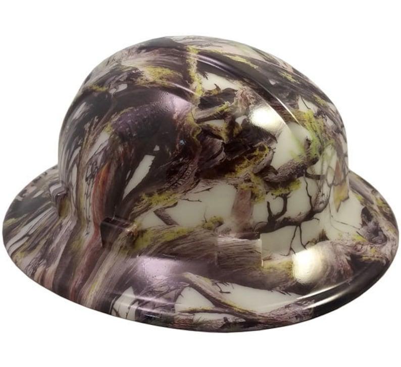 American Camo Hydro Dipped Glow in the Dark Hard Hats Full  3823bc7c56d4
