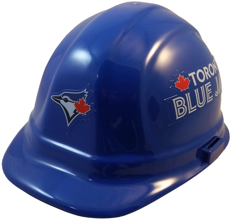new style 56d49 42a7a Toronto Blue Jays Hard Hat   Etsy