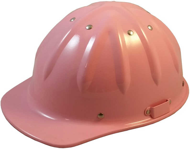Pink SkullBucket Aluminum Cap Style Hard Hats with Ratchet Suspensions