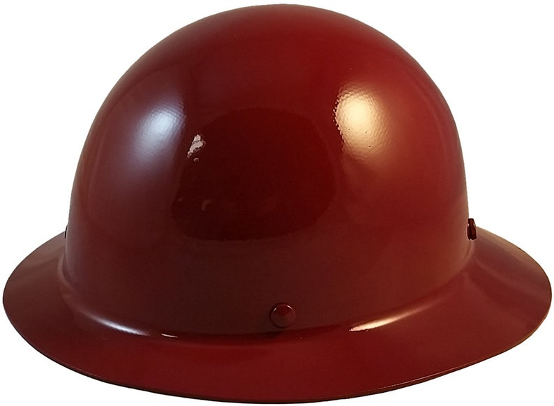 MSA Skullgard Full Brim Hard Hat - Maroon