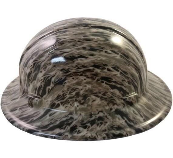 Flames Hydro Dipped Glow in the Dark Hard Hats Full Brim Style  145c237420da