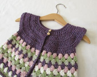 836e9add2 Pretty Crochet Baby Top Written Pattern Lace Sleeve Sweater
