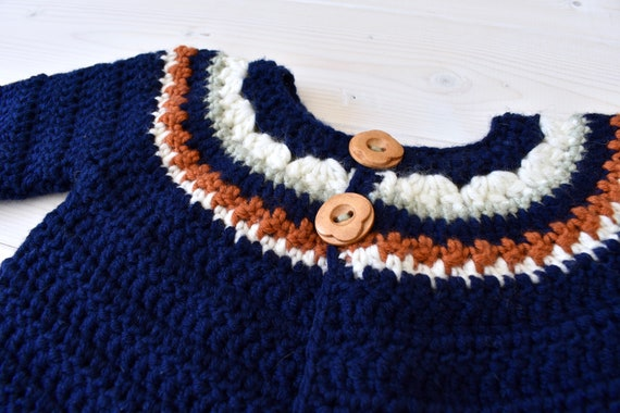 16883ad8b Crochet Autumn Sweater Written Pattern Cosy Baby