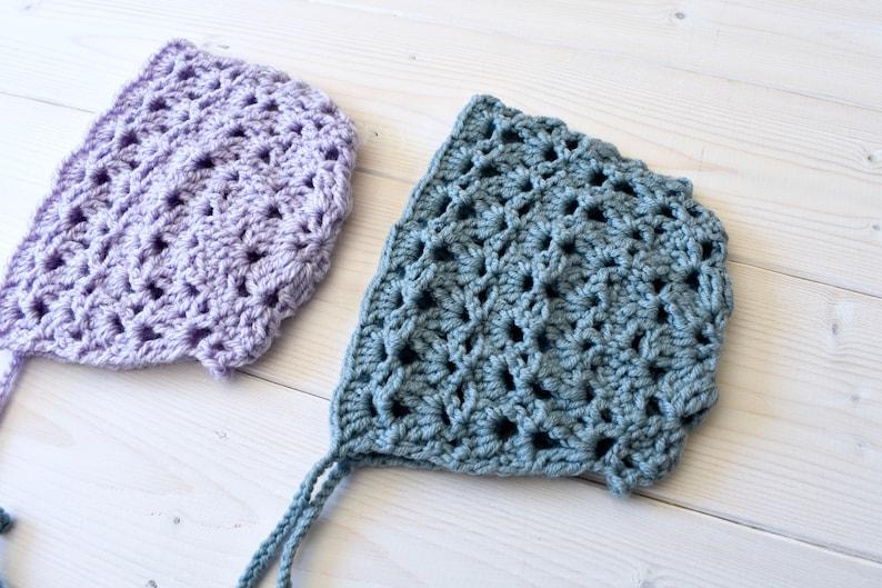 aeadbcf30af2 Crochet Eloise Bonnet Written Pattern Beautiful Lace Baby
