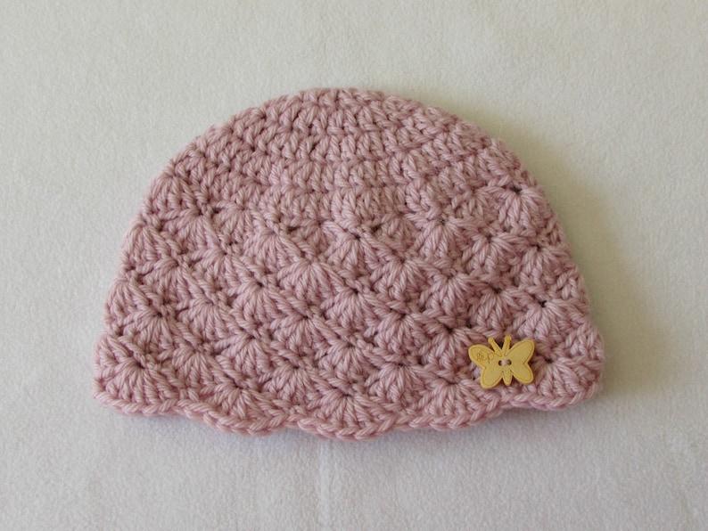 c36a1c15b Crochet Shell Stitch Baby Hat Written Pattern