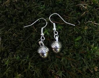 Tiny Acorn Earrings