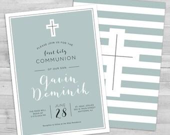 First Communion Invitation Boy Communion Invitations Boy Boy