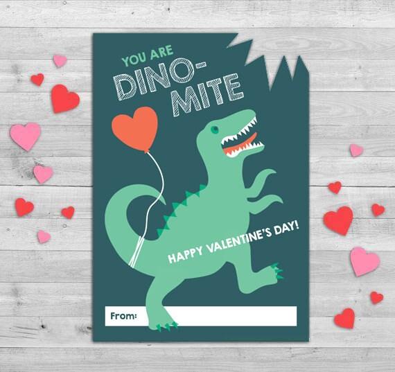 Dinosaur Valentines Day Card Dinosaur Valentines Boys