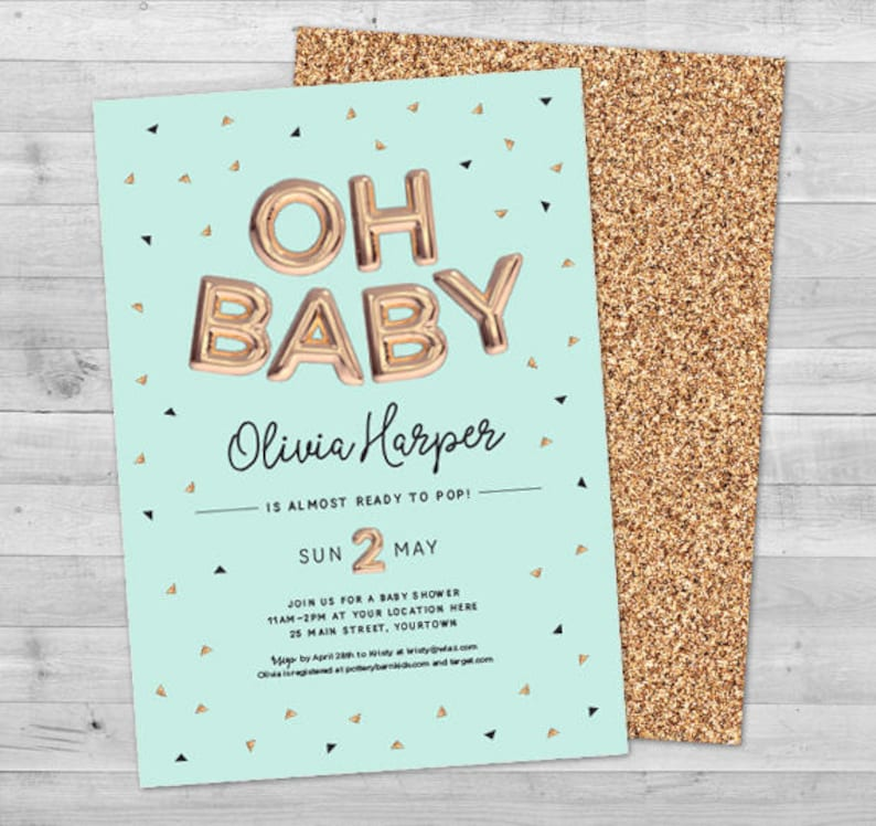 Oh Baby Shower Invitation Gender Neutral Baby Shower