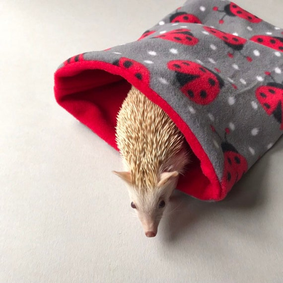 Hedgehog Snuggle Sack Guinea Pig Cuddle Sack Burrow Pouch Stay Open Cuddle Sack Cage Liners Guinea Pig Bed Cuddle pouch
