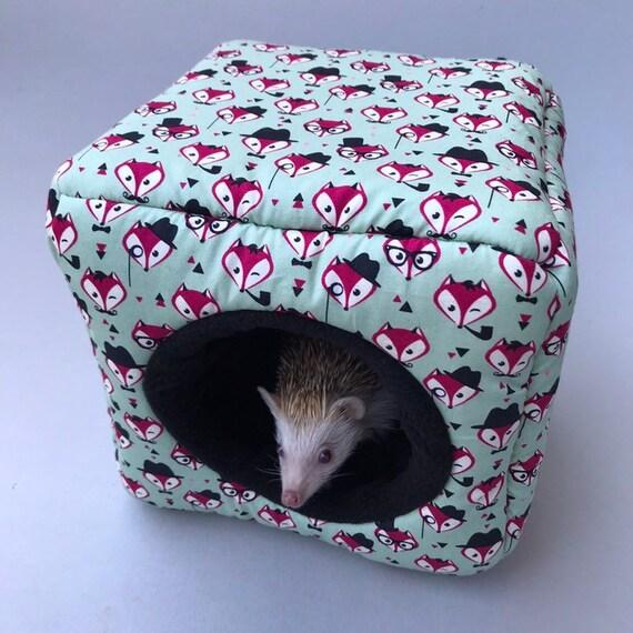 Guinea Pig Fleece Igloo House Cover Hedgehog Hide Bed