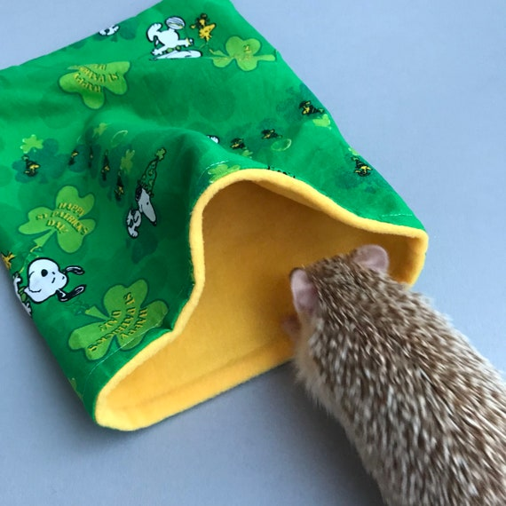 St Patricks Day Snoopy Snuggle Sac Se Blottir Pochette Sac De