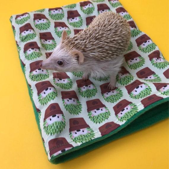 Fleece lined. Small animal sleeping bag Hedgehog snuggle sack