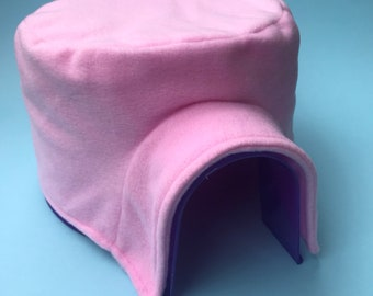 Fleece igloo cover for plastic igloo. Igloo for hedgehog, guinea pig, rat and other small animals. Small pet bedding fleece pigloo cover.