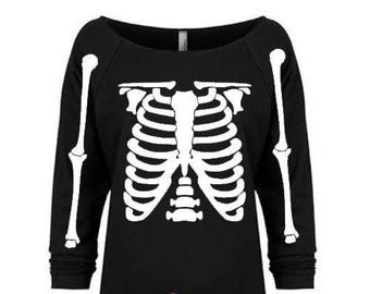 Skeleton Shirt, Halloween shirt, Halloween Costume, Happy Halloween shirt, Halloween tee, Skeleton tee, Skeleton, Halloween party, Raw edge