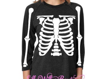 Skeleton Shirt, Halloween shirt, Halloween Costume, Happy Halloween, Halloween party, Halloween top, Halloween tee,  Skeleton tee