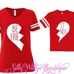 Best friends shirt, Mommy and me shirt, Matching shirts, Valentine's shirt, Heart shirt, Valentine shirt, Broken heart shirt, BFF shirts