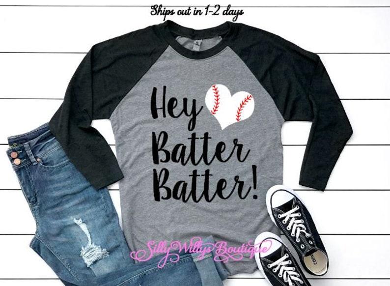 3f6d93d53 Hey batter batter shirt Baseball shirt Baseball mom shirt | Etsy