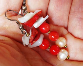 Earrings shell and mother of Pearl - gift idea
