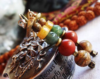 Nepal earrings Jasper - holidays gift idea