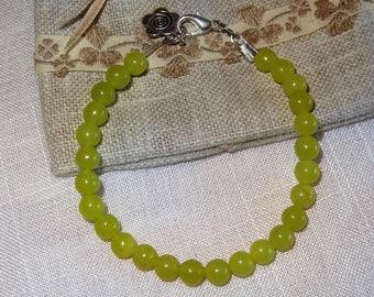 Green peridot bracelet - holidays gift idea