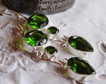 Kit earrings peridot - Sterling Silver 925 - holidays gift idea