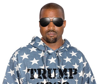 Trump 2020 Limited Edition American Flag Pull Over Hooded Sweatshirt- Make America Great Again Movement 4th of July Rally God Bless America