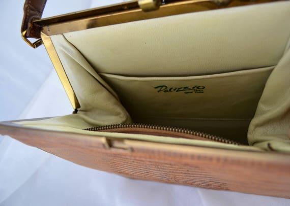 Vintage Palizzio Kelly Style Lizard Skin Handbag … - image 4