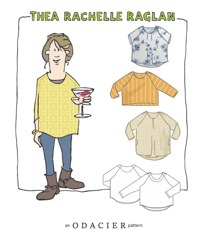 DIGITAL DOWNLOAD Thea Rachelle Raglan Pattern image 0