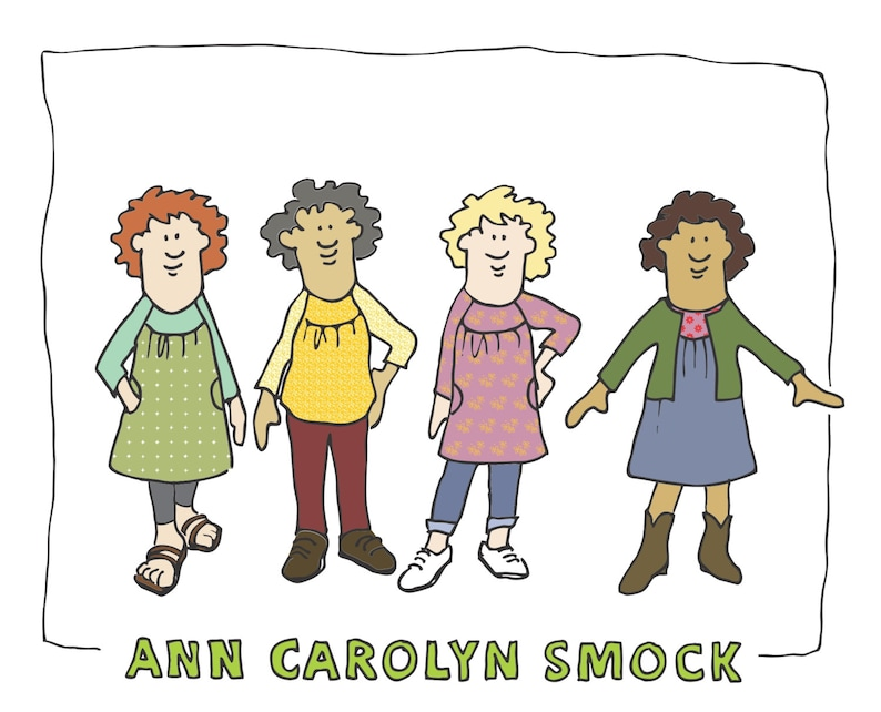 DIGITAL DOWNLOAD Ann Carolyn Smock Pattern image 0