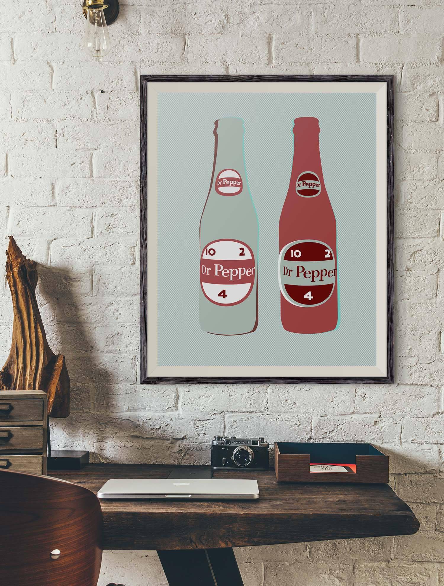 Dr. Pepper Vintage Soda Pop Bottle Pop Art Print Poster | Etsy