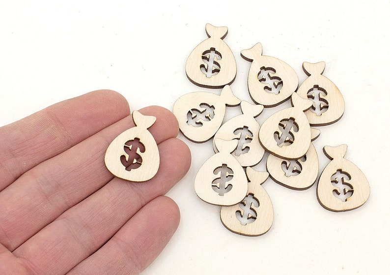 STARS BLANK UNPAINTED WOODEN HANGING GIFT SHAPE CHRISTMAS TAG 10 x 5cm S