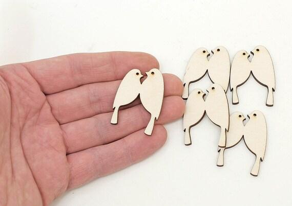 10x WOODEN SCROLL SHAPES gift tag craft card scrapbook make embellishment make