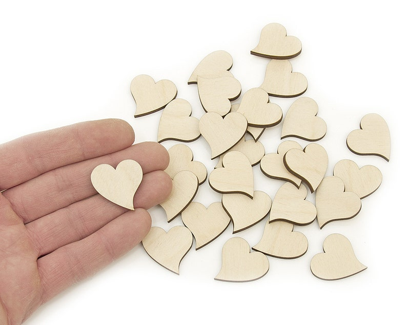 Valentine etc with Love text x2 Laser cut wooden heart for crafts wedding