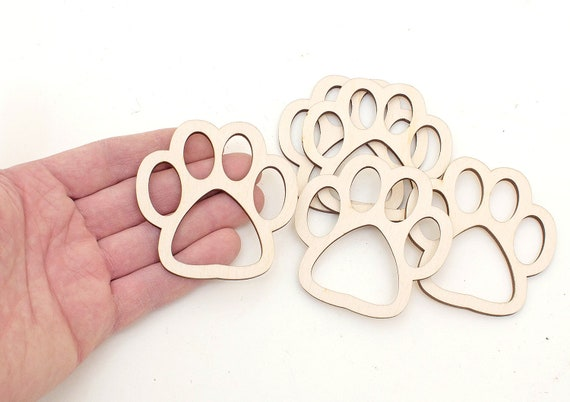 Wooden ring Handmade Wood Band Ring All Sizes Cat/'s paw print